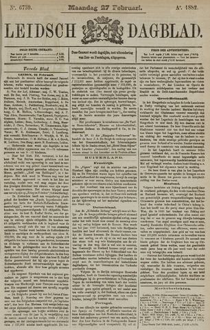 Leidsch Dagblad 1882-02-27