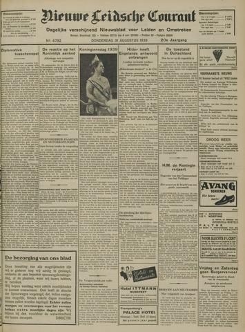 Nieuwe Leidsche Courant 1939-08-31