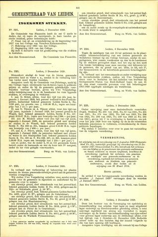 Handelingen van de Raad 1928-12-03