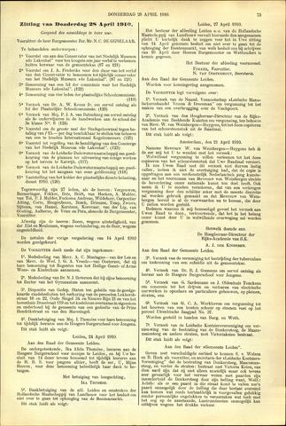 Handelingen van de Raad 1910-04-28