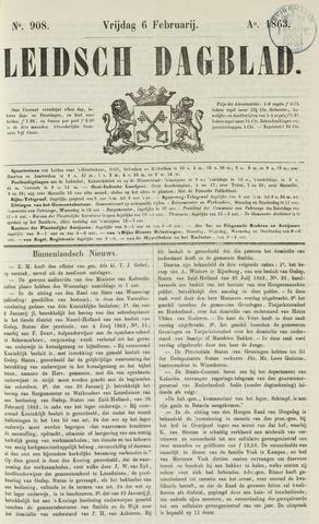 Leidsch Dagblad 1863-02-06