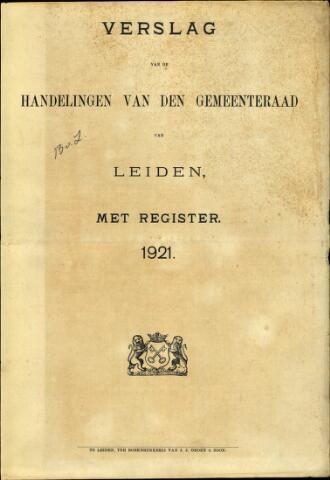 Handelingen van de Raad 1921-01-01
