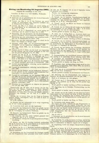 Handelingen van de Raad 1905-08-24