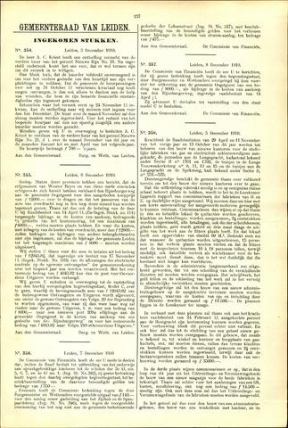 Handelingen van de Raad 1910-12-03