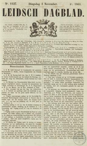 Leidsch Dagblad 1863-11-03