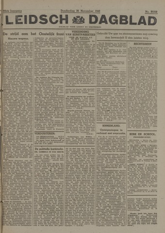 Leidsch Dagblad 1942-11-26