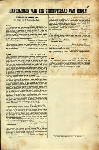 Handelingen van de Raad 1874-08-27