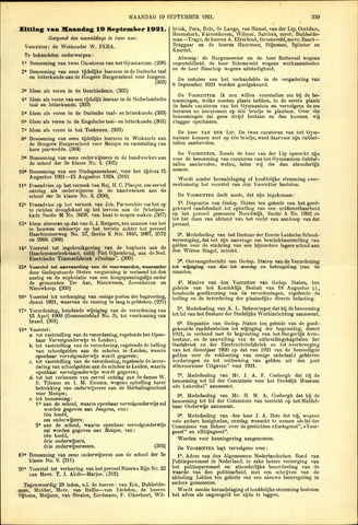 Handelingen van de Raad 1921-09-19
