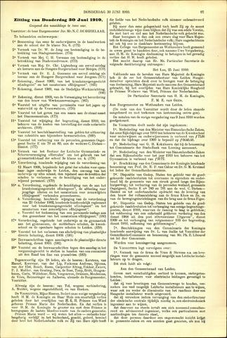 Handelingen van de Raad 1910-06-30