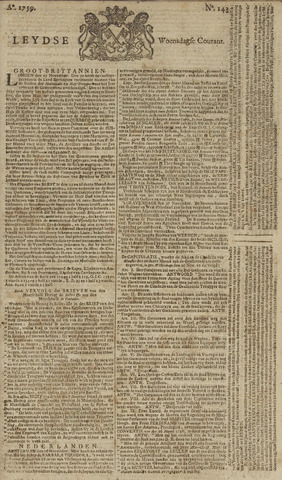Leydse Courant 1759-11-28