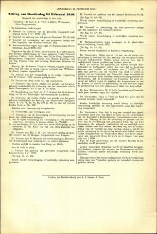 Handelingen van de Raad 1910-02-24