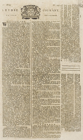 Leydse Courant 1814-12-09