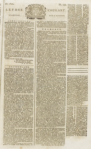 Leydse Courant 1822-10-30