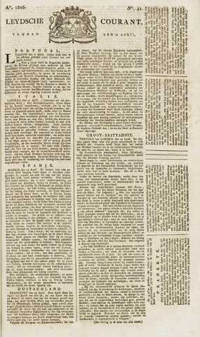 Leydse Courant 1826-04-28