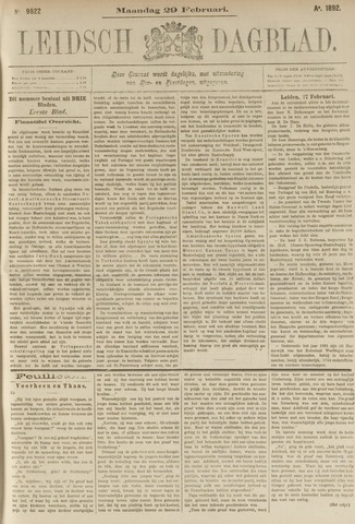 Leidsch Dagblad 1892-02-29