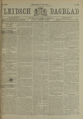 Leidsch Dagblad 1911-10-07