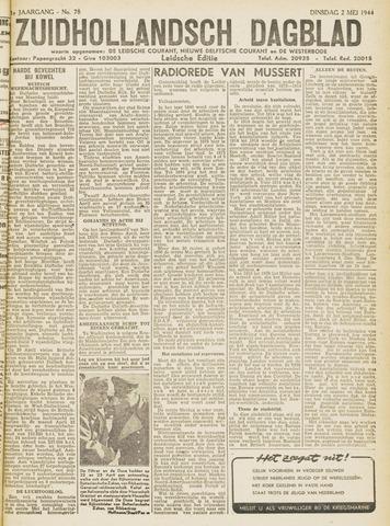 Zuidhollandsch Dagblad 1944-05-02
