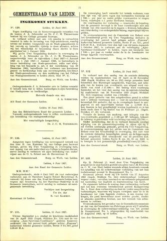 Handelingen van de Raad 1927-06-21