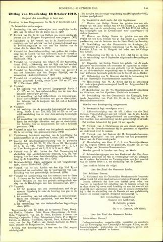 Handelingen van de Raad 1910-10-13