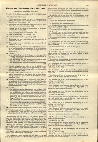 Handelingen van de Raad 1919-04-24