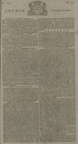 Leydse Courant 1739-11-25