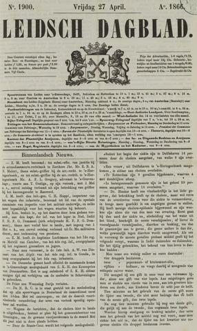 Leidsch Dagblad 1866-04-27