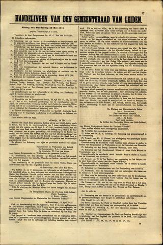 Handelingen van de Raad 1875-05-13