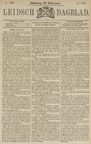 Leidsch Dagblad 1885-02-10