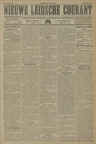 Nieuwe Leidsche Courant 1927-06-27