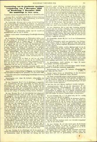 Handelingen van de Raad 1922-12-07