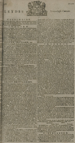 Leydse Courant 1729-09-14