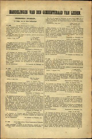 Handelingen van de Raad 1872-08-03