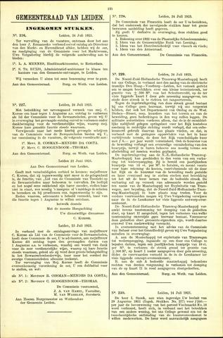 Handelingen van de Raad 1923-07-24