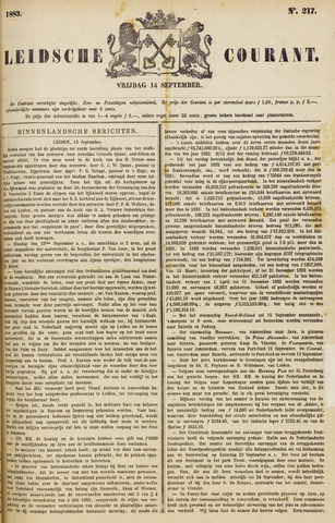 Leydse Courant 1883-09-14