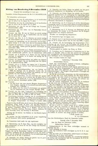 Handelingen van de Raad 1910-12-08