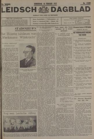 Leidsch Dagblad 1937-02-18