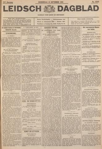 Leidsch Dagblad 1932-09-22