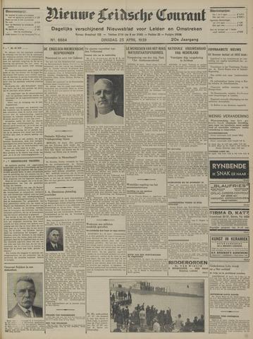 Nieuwe Leidsche Courant 1939-04-25