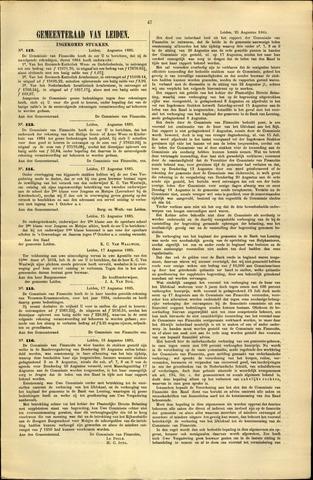 Handelingen van de Raad 1885-08-17