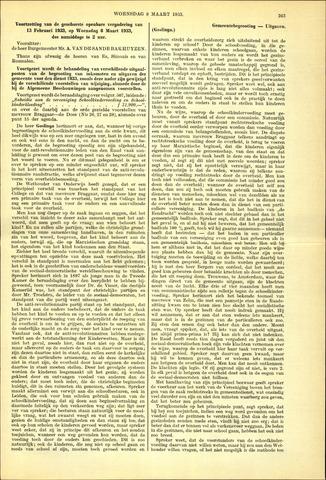 Handelingen van de Raad 1933-03-08