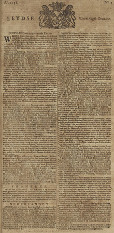 Leydse Courant 1758-01-04