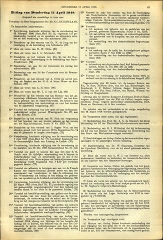 Handelingen van de Raad 1918-04-11
