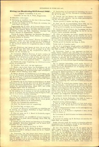 Handelingen van de Raad 1897-02-25