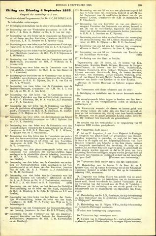 Handelingen van de Raad 1923-09-04