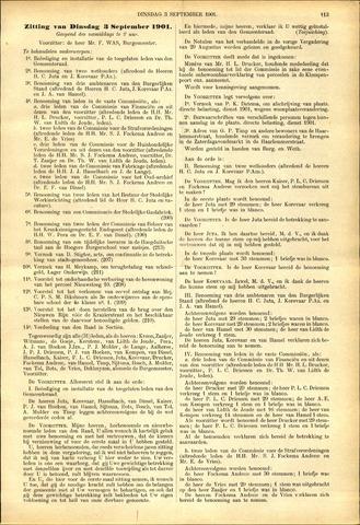 Handelingen van de Raad 1901-09-03