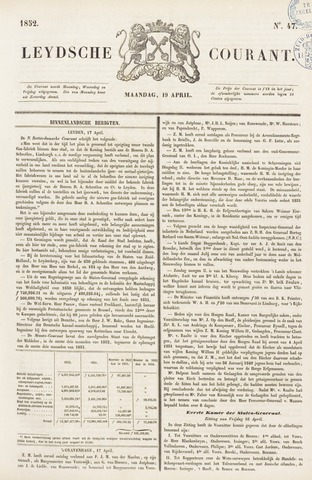 Leydse Courant 1852-04-19