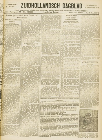Zuidhollandsch Dagblad 1944-08-10