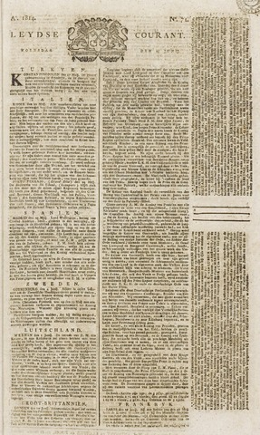Leydse Courant 1814-06-15