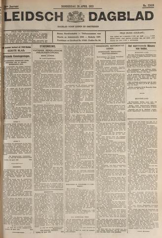 Leidsch Dagblad 1933-04-20
