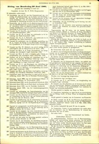 Handelingen van de Raad 1901-06-20
